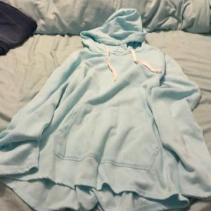 Light blue hoodie- tee shirt